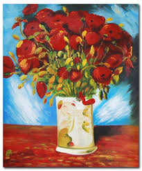 Vase With Red Poppies Poppies Near Argenteuil Van Gogh Paintings Famous Art
