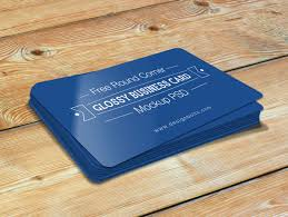Business Card Mockup Psd Download Free Round Corner Glossy Business Card Mockup Psd