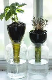 self watering indoor planters self watering glass bottle planters http hative com cool diy