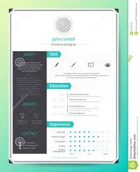 Resume Applications Resume And Cv Vector Template Awesome For Job Applications Stock
