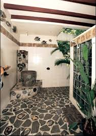 desain kamar mandi pedesaan gambar kamar mandi minimalis dengan batu alam 30 desain kamar mandi