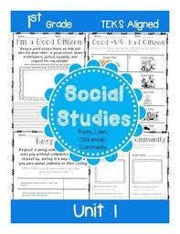 1st grade social studies unit 1 rules laws citizenship