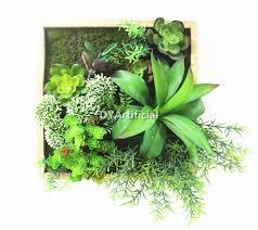 indoor decorative fake platsic succulent plants wall hanging