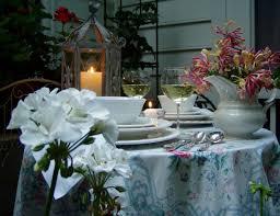 a garden table setting