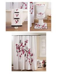 Bathroom Set Asian Cherry Blossom