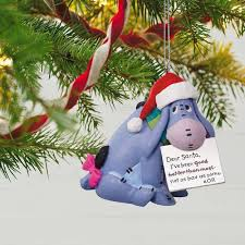 disney winnie the pooh eeyore a letter to santa ornament