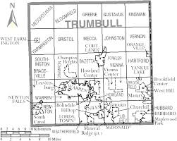 map of counties in ohio trumbull county ohio