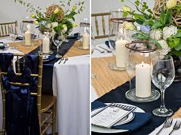 Navy Blue Table Runner New Wedding Inspiration Nautical Theme Linentablecloth