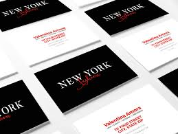 Photoshop Template Business Card Business Cards For Fashion Professionals Anthony U0026 Marisa