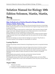 solution manual for biology 10th edition solomon martin martin
