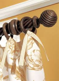 Cambria Wood Curtain Rods Wood Curtain Rods Hardware Accessories Interiordecorating