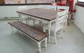 Handcrafted Wood Tables Hand Crafted Reclaimed Wood Farmhouse Table With Beautiful Turned