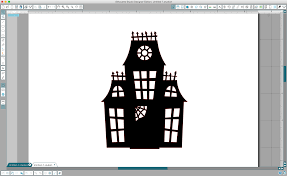 Halloween Haunted House Cake Halloween Silhouette Cake Topper