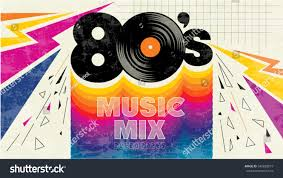 80s music mix retro style 80s stock vector 540828019 shutterstock