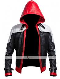 red and black motorcycle jacket jason todd batman red hood jacket is just one click away