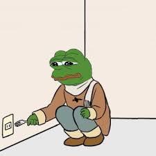 Meme Sad - sad frog suicide blank template imgflip