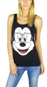 Disney Clothes For Juniors Amazon Com Disney Mickey Mouse U0026 Minnie Mouse Hipster Nerdy Tank