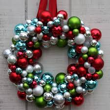 how to make a wreath with ornaments creative home designer