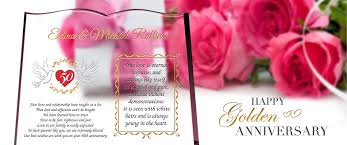 golden anniversary gifts golden anniversary wishes and gift ideas for parents
