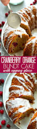 cranberry orange bundt cake with eggnog glaze