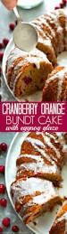cranberry orange bundt cake with eggnog glaze