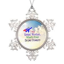 Social Worker Humor Snowflake Pewter Christmas Ornament Zazzle Com