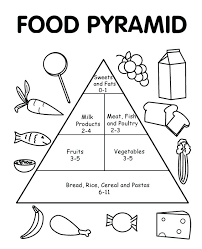 healthy food coloring pages preschool food pyramid with healthy and fresh coloring pages food coloring