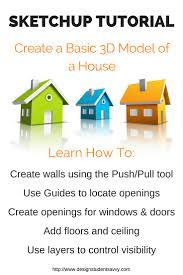 beginner sketchup tutorial how to create a basic 3d model of a