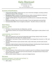 Resume Qualifications Examples Qualifications Examples For Resume Summary Of Qualifications How