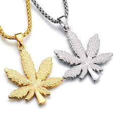 hip necklace chain images Online shop new iced out weed hiphop necklace pendant silver jpg