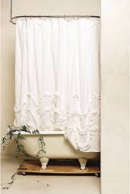Frilly Shower Curtain Sure Fit Hookless Serena Shower Curtains Pretty Shower Curtains
