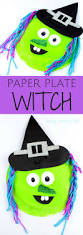paper plate witch arty crafty kids