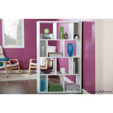 South Shore White Bookcase by South Shore Reveal Shelving Unit With 12 Compartments Multiple