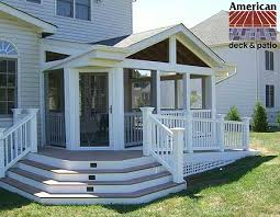Sunrooms For Decks American Deck Inc Custom Deck Builders Sunrooms Patios Trex Composite