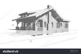 splendid design ideas 5 bungalow drawing architectural perspective