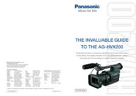 download free pdf for panasonic ag dvx100b camcorders manual