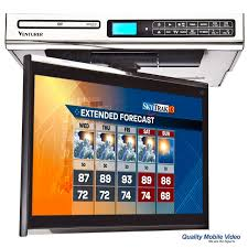 Under Cabinet Radio Tv Kitchen Venturer Klv3915 Under Cabinet 15 4 Inch Drop Down Kitchen Tv With