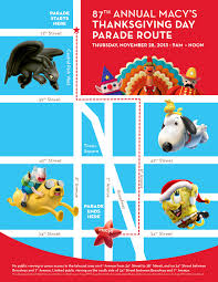 Rose Parade Route Map by Marching Com 2013 Macy U0027s Thanksgiving Day Parade Lineup And