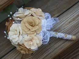 Wedding Flowers Keepsake Burlap Bouquet Bride Bridesmaid Bouquet Keepsake Wedding
