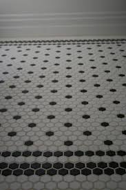 black and white bathroom tile ideas ultimate black and white hexagon bathroom tile also home design