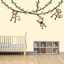 Monkey Nursery Wall Decals Baby Nursery Jungle Wall Decals For Nursery Decor Ideas With