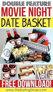 Movie Themed Gift Basket Dinner And A Movie Gift Basket Ideas Baskets Dinner And A Movie