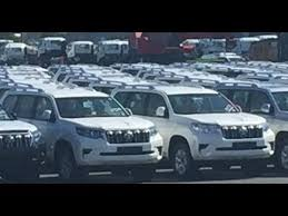 toyota dealer japan 2018 toyota land cruiser prado spotted at a dealer yard in japan
