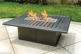 Tropitone Fire Pit Rectangular Fire Pit Leisure Living Rectangular