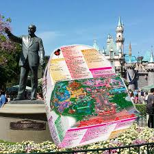 Disney Land Map Disneyland Map High Quality Limited Edition Custom Backpack