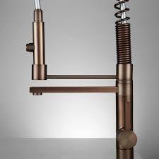 high rise kitchen faucet lakota high rise kitchen faucet with spout rubbed bronze