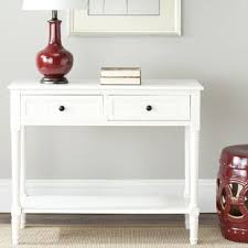 white table with drawers white console sofa tables you ll love wayfair