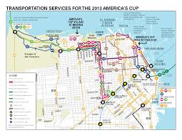 San Francisco Chinatown Map by San Francisco 2013 America U0027s Cup Sfmta