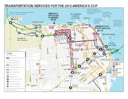Bart Station Map by San Francisco 2013 America U0027s Cup Sfmta