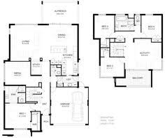 Double Storey House Floor Plans House Plans House Floor Plans Australian House Plans Modern